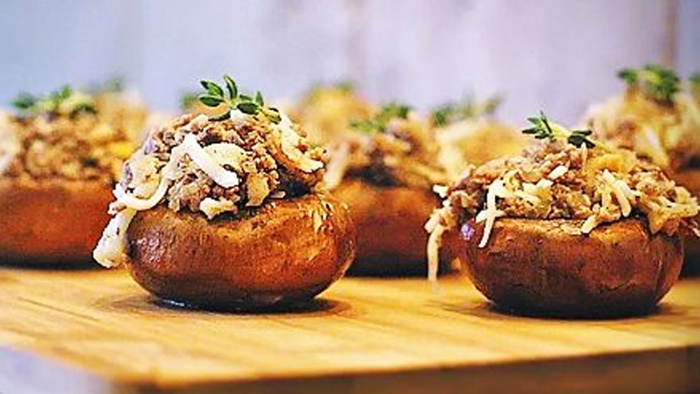Elk Stuffed Mushrooms Recipe