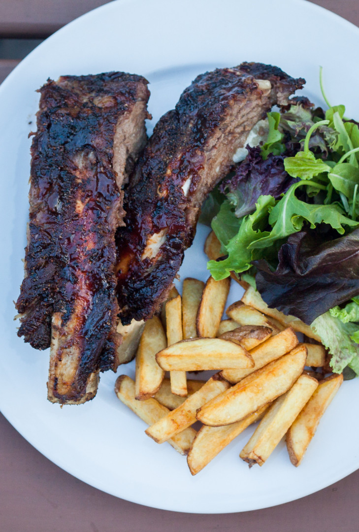 bbq ribs, russ crandall, grilled ribs, beef beef back ribs, the domestic man, grassfed beef