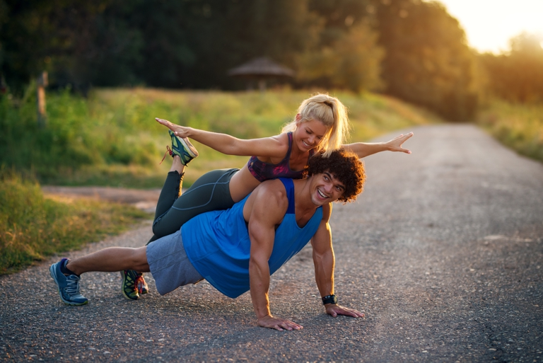 push ups, desserts and lose weight