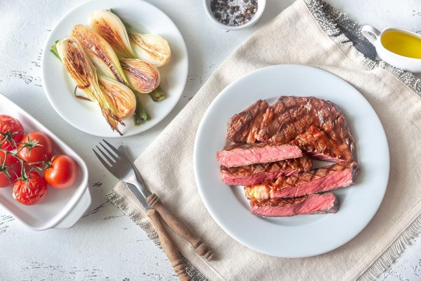 grilling grass-fed steak