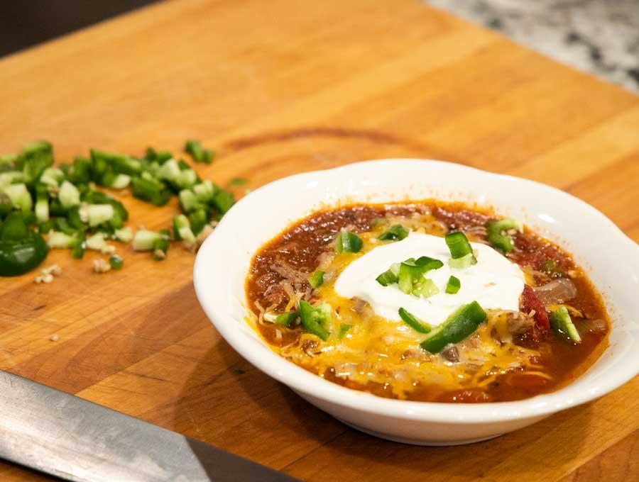 keto carnivore chili, recipe,Cheryl McColgan, August Featured Chef