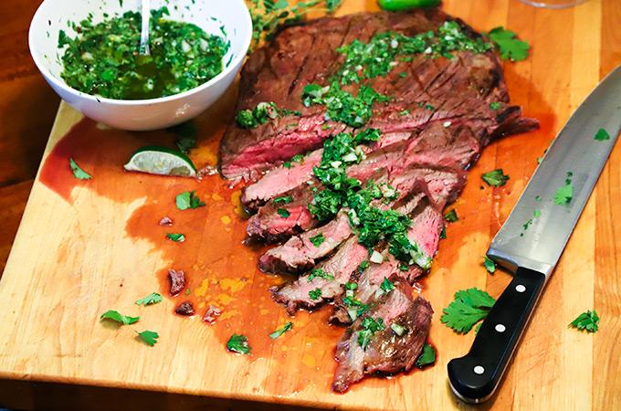carne asada, flank steak, Cheryl McColgan, recipe