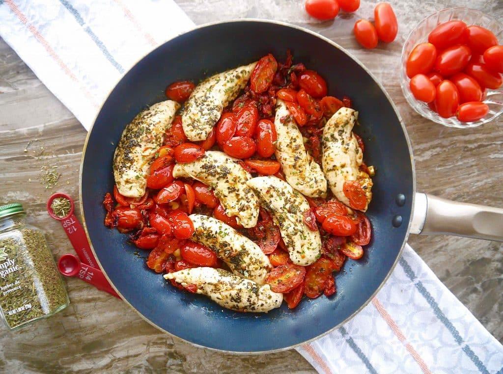 garlic chicken and tomato recipe